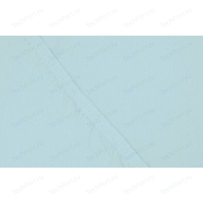 цена Простыня Ecotex на резинке трикотажная 180х200х20 голубая (4670016952165) онлайн в 2017 году