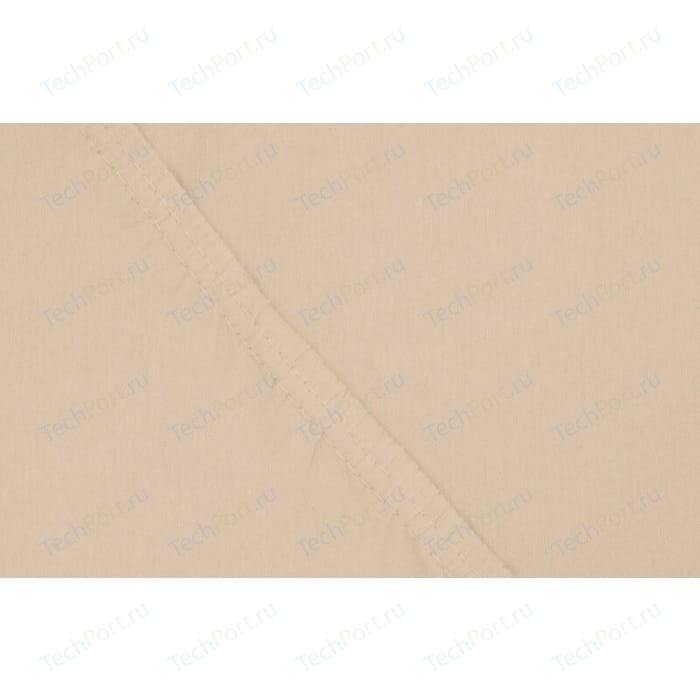 цена Простыня Ecotex на резинке трикотажная 200х200х20 бежевая (4670016951823) онлайн в 2017 году