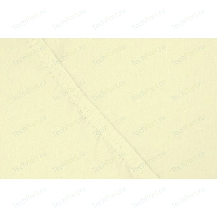 цена Простыня Ecotex на резинке трикотажная 200х200х20 нежно-желтая (4670016951922) онлайн в 2017 году