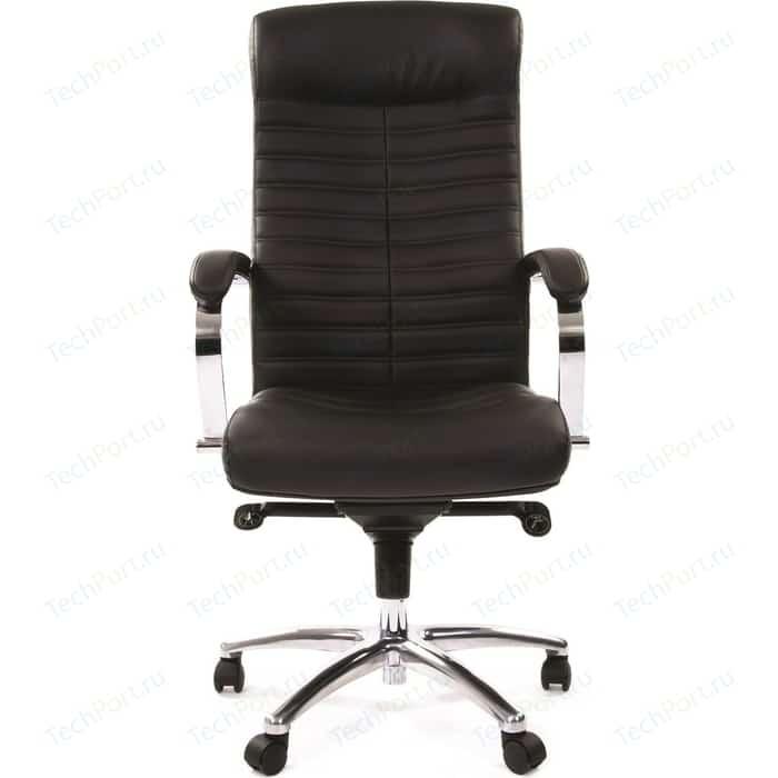 Офисное кресло Chairman 480 кожа/кз, черный