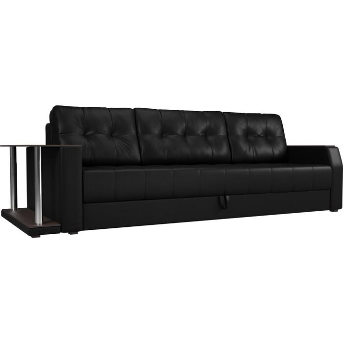 Фото - Диван-еврокнижка АртМебель Атлант эко-кожа черный стол с левой стороны диван еврокнижка артмебель атлант т эко кожа бело черный