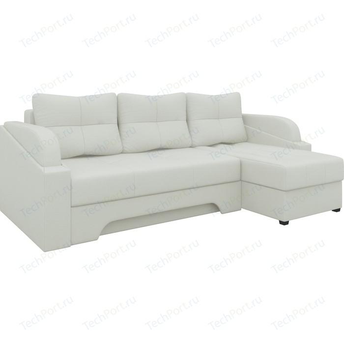 Угловой диван АртМебель Панда эко-кожа белый правый