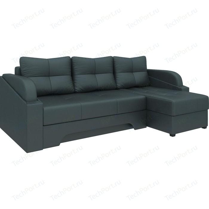 Угловой диван Мебелико Панда эко-кожа черный правый угловой диван мебелико панда эко кожа коричневый правый