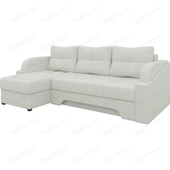 Угловой диван АртМебель Панда эко-кожа белый левый диван угловой артмебель венеция эко кожа белый левый