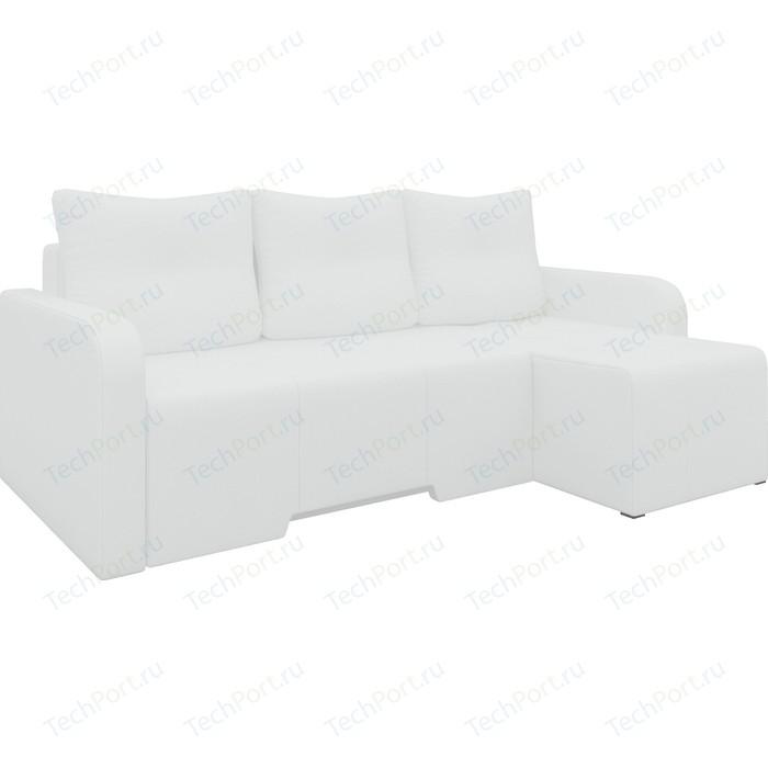 Угловой диван АртМебель Манхеттен эко-кожа белый правый