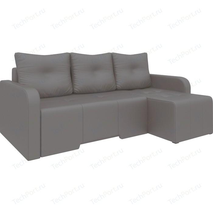 Угловой диван Мебелико Манхеттен эко-кожа коричневый правый угловой диван мебелико панда эко кожа коричневый правый