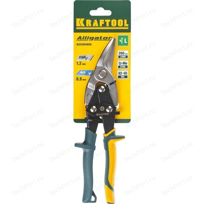 Ножницы по металлу Kraftool Alligator 260мм (2328-L) ножницы по металлу stanley 260мм универсальные 1 84 191