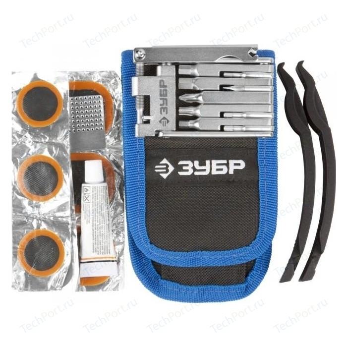 Мультитул для велосипедов Зубр складной 11-в-1 комплект ремонта шин 16-в-1 (27428-H16)