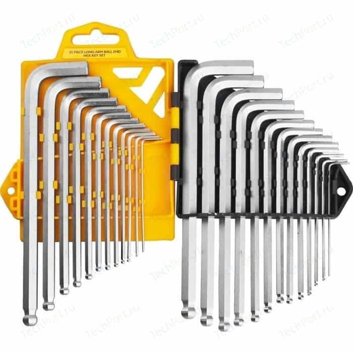 Набор ключей имбусовых JCB длинные с шариком 25 предметов (JWR005)