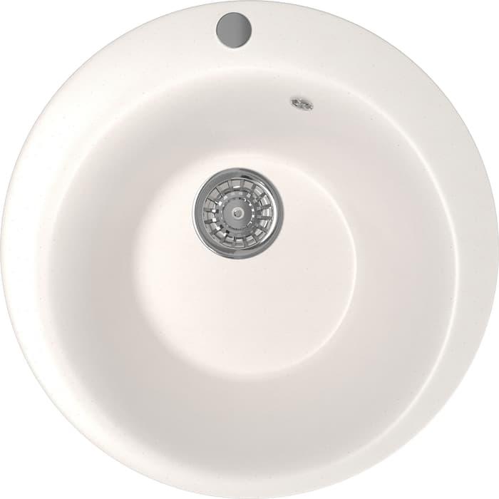 Кухонная мойка Mixline ML-GM13 49,5х49,5 белый 331 (4630030633464)