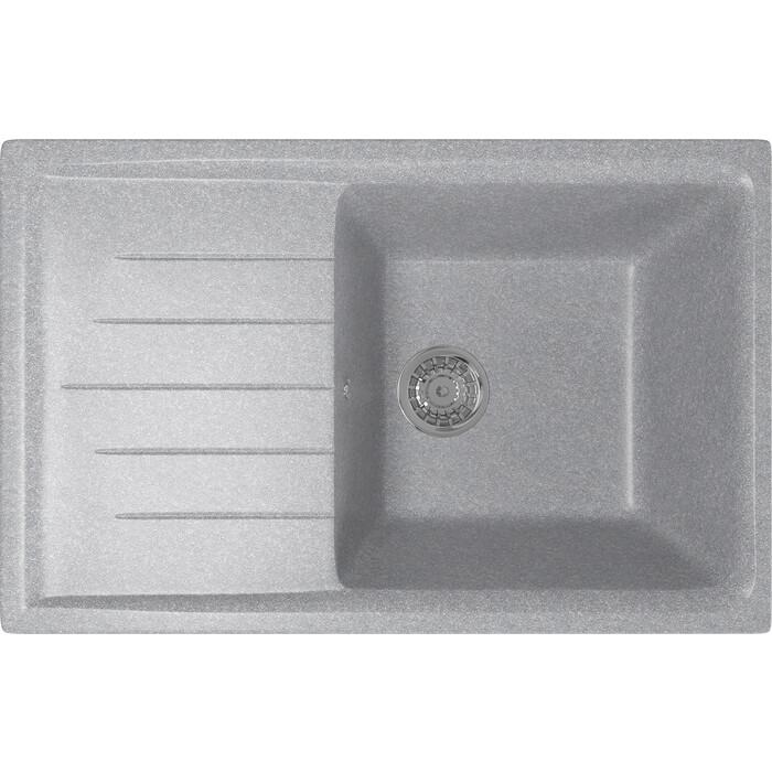 Кухонная мойка Mixline ML-GM19 49,5х75 графит 342 (4620031445692)