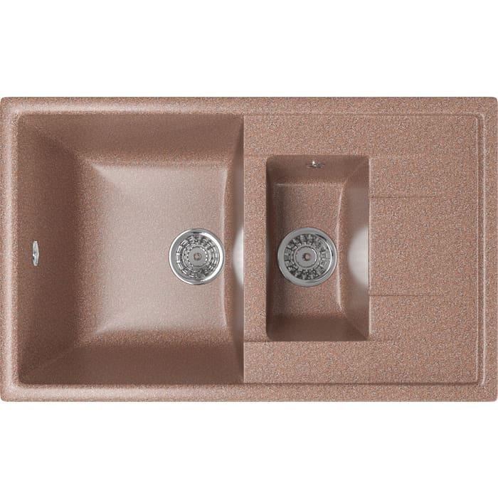 Кухонная мойка Mixline ML-GM22 77x49,5 терракотовый 307 (4630030635567)