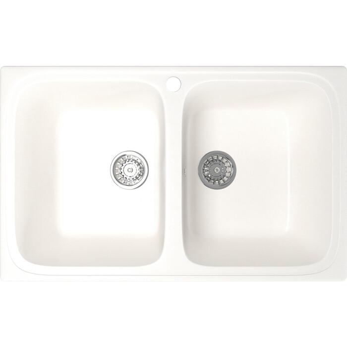 Кухонная мойка Mixline ML-GM23 77,5x49,5 белый 331 (4630030635864)