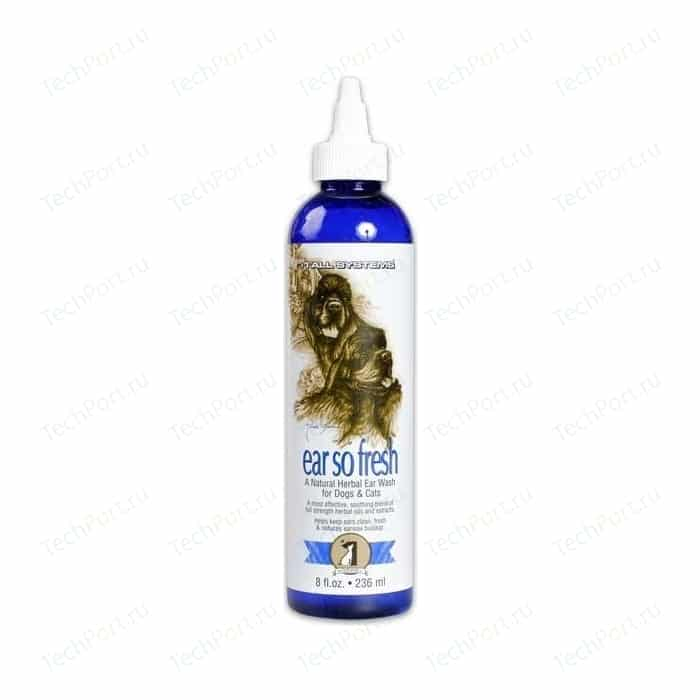 Средство 1 All Systems Ear so Fresh Natural Herbal Wash for Dogs & Cats для чистки ушей кошек и собак 236мл
