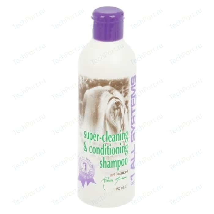Шампунь 1 All Systems Super Cleaning & Conditioning Shampoo суперочищающий для кошек и собак 250мл