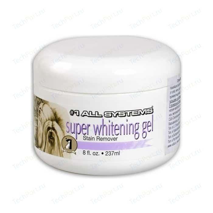 Гель 1 All Systems Super Whitening Gel Stain Remover отбеливающий для шерсти кошек и собак 237мл
