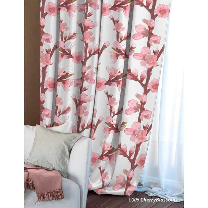 Фото - Штора Волшебная ночь Cherry Blossoms, 150х270 (704482) штора портьерная волшебная ночь rose габардин 150x270 197842