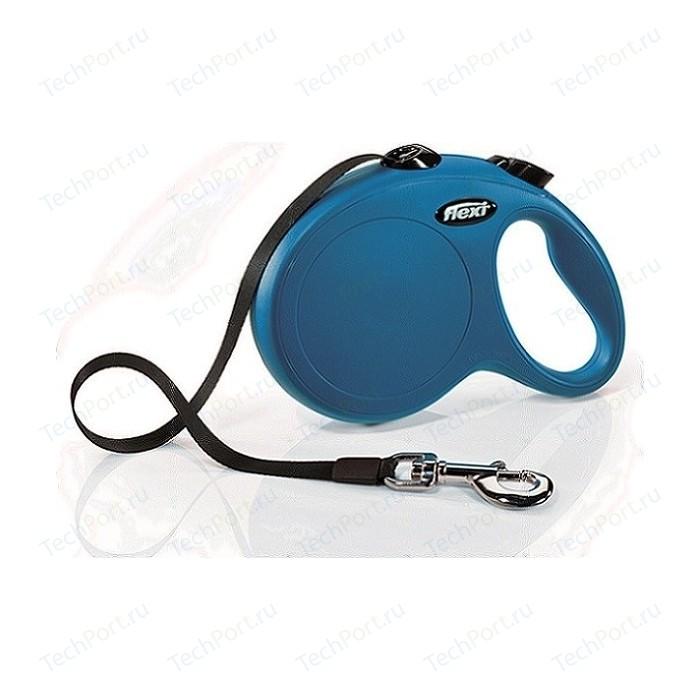 Рулетка Flexi New Classic L лента 5м синяя для собак до 50кг