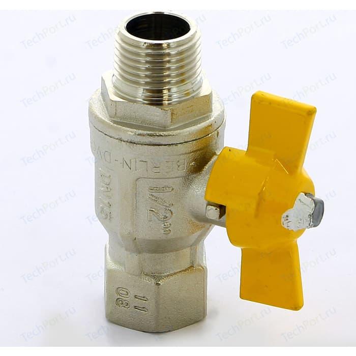 Кран шаровый ITAP BERLIN газовый 1/2 НР/ВР (073 1/2)