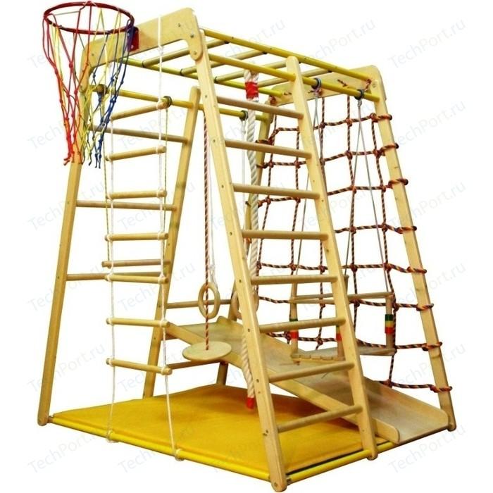 Детский спортивный комплекс Вертикаль Весёлый Малыш Wood горка фанерная