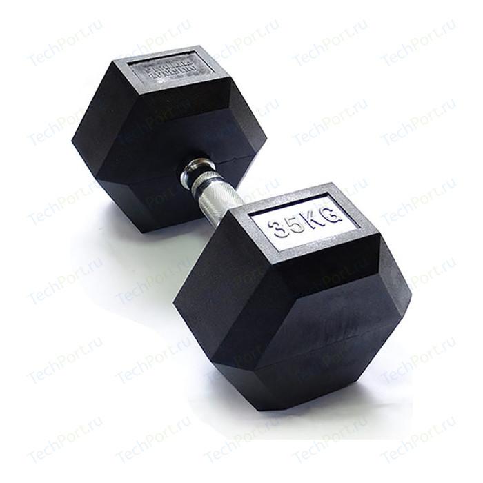 Гантель Original FitTools гексагональная 35 кг