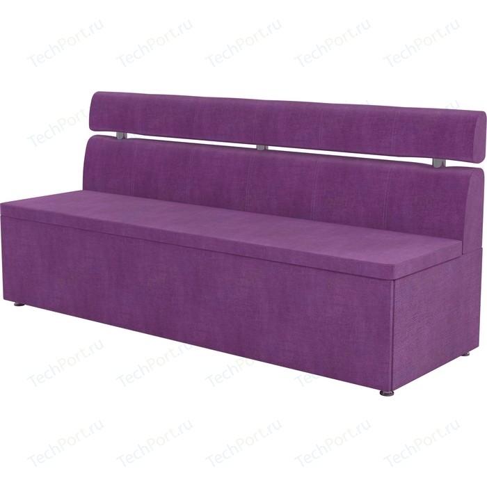 Кухонный диван Мебелико Классик микровельвет фиолетовый