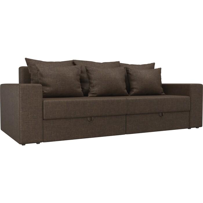 Диван-еврокнижка АртМебель Медисон рогожка коричневый диван еврокнижка артмебель манчестер рогожка серый окантовка коричневый