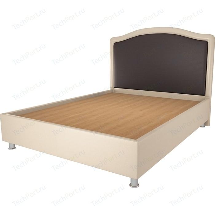 Кровать OrthoSleep Калифорния бисквит-шоколад жесткое основание 140х200 кровать orthosleep ниагара бисквит жесткое основание 140х200