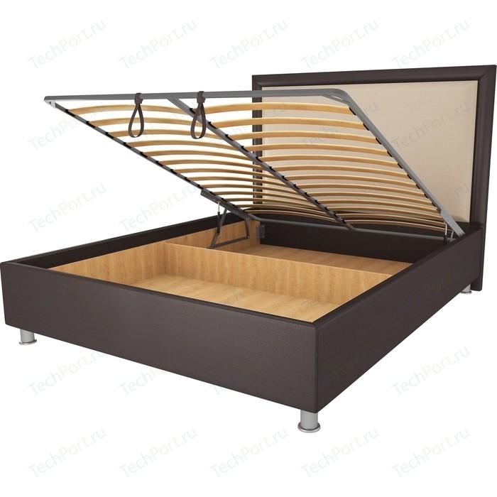 Кровать OrthoSleep Нью-Йорк шоколад-бисквит механизм и ящик 80х200