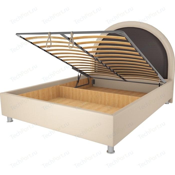 Кровать OrthoSleep Аляска бисквит-шоколад механизм и ящик 180х200