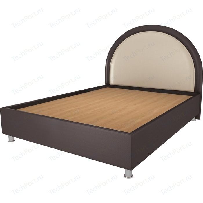 Кровать OrthoSleep Аляска шоколад-бисквит жесткое основание 200х200 кровать orthosleep аляска бисквит шоколад ортопед основание 200х200