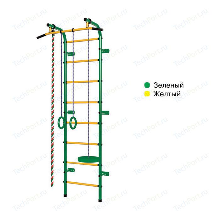 Детский спортивный комплекс Пионер С1НМ зелёно- жёлтый