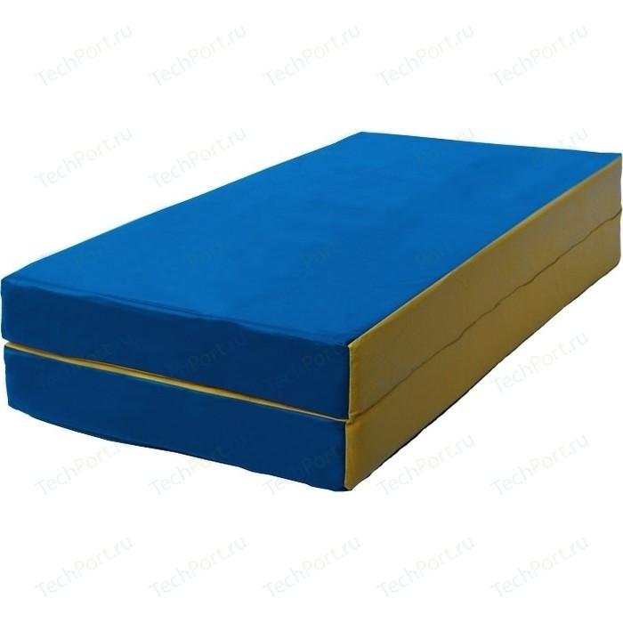 Мат КМС № 3 (100 x 100 10) складной сине-жёлтый