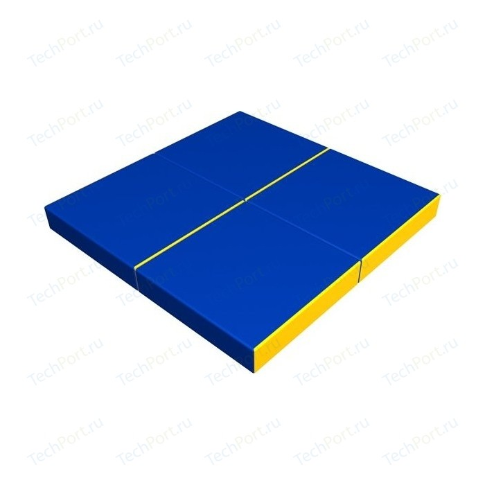 Мат КМС № 11 (100 x 100 10) складной сине-жёлтый
