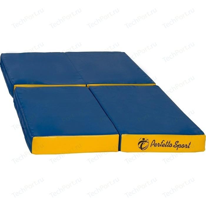 Мат PERFETTO SPORT № 11 (100 х 100 10) складной сине-жёлтый