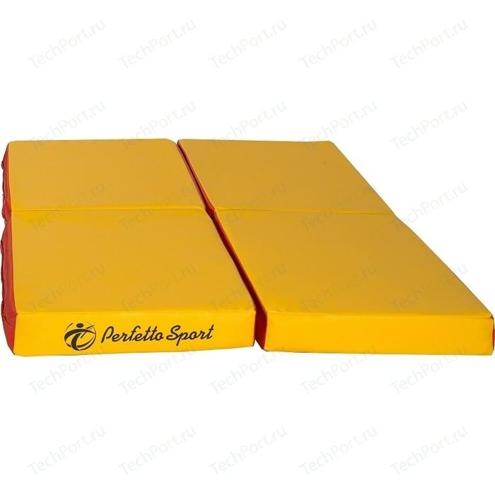 Мат PERFETTO SPORT № 11 (100 х 100 10) складной красно-жёлтый