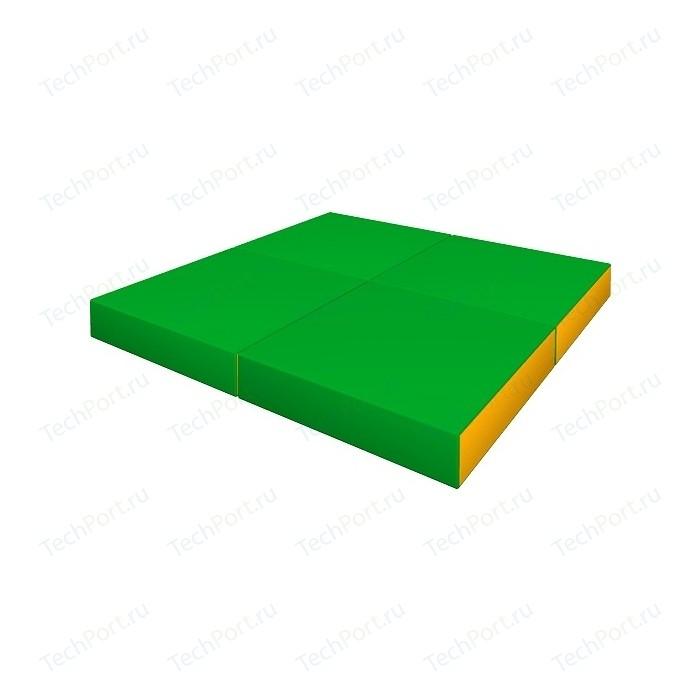 Мат КМС № 11 (100 x 100 10) складной зелёно-жёлтый