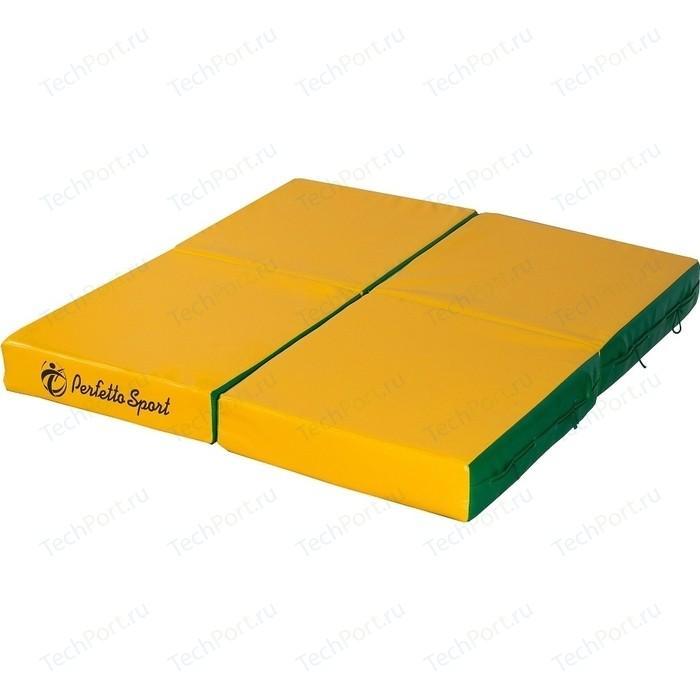 Мат PERFETTO SPORT № 11 (100 х 100 10) складной зелёно-жёлтый