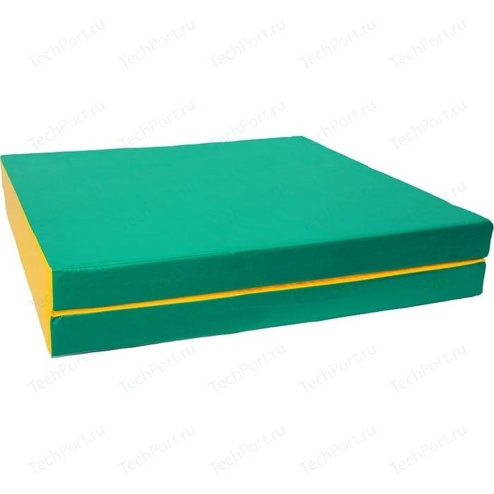 Мат КМС № 10 (100 x 150 10) складной зелёно-жёлтый