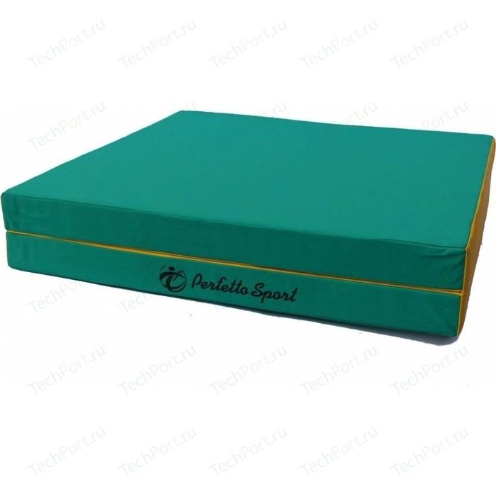 Мат PERFETTO SPORT № 10 (100 х 150 10) складной зелёно-жёлтый