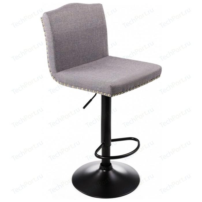 Барный стул Woodville Crown grey fabric