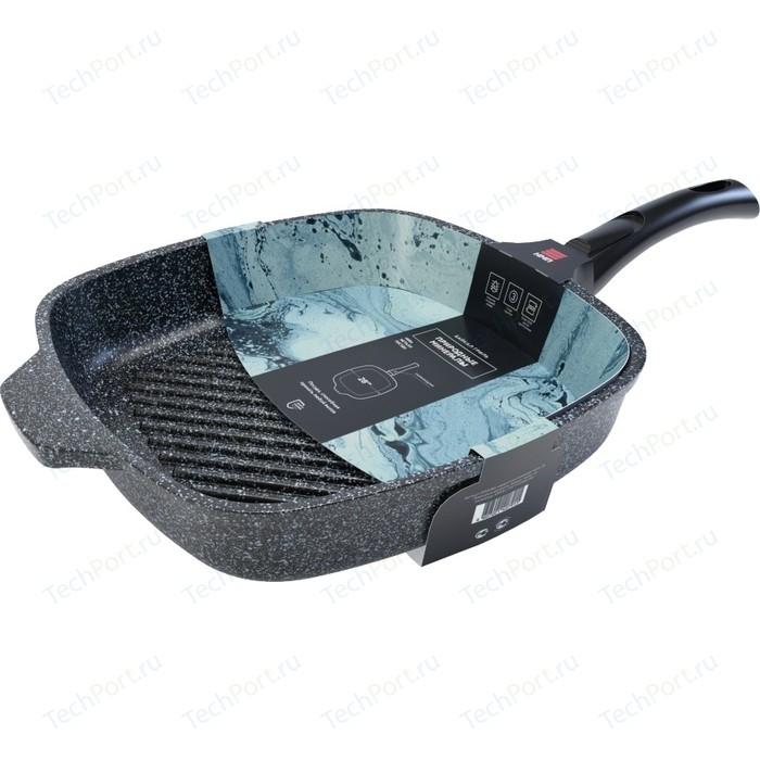 Сковорода-гриль со съемной ручкой НМП 28x28 см Байкал (254028G) сковорода гриль с крышкой и съемной ручкой agness 932 021 28x28 см