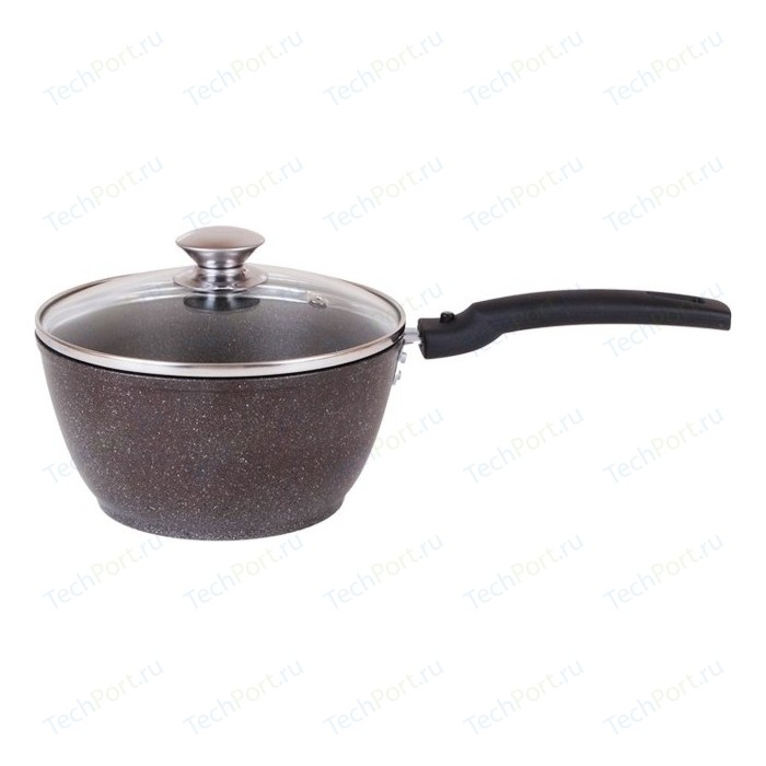 Ковш 1.5 л со съемной ручкой Kukmara Кофейный мрамор (кмк17а) сковорода d 22 см со съемной ручкой kukmara кофейный мрамор смк222а