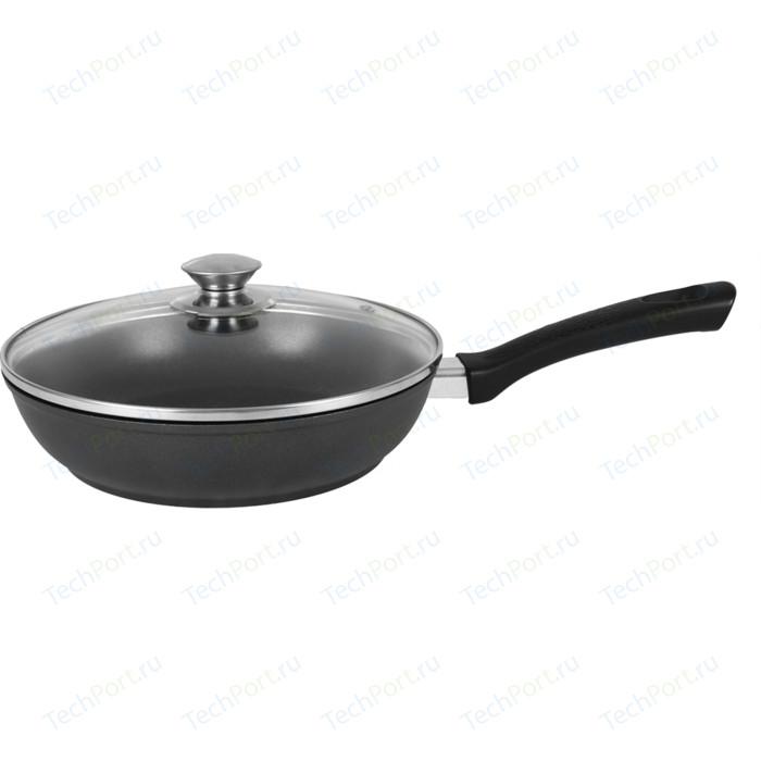 Сковорода с крышкой Kukmara d 22см (с223а) сковорода d 24 см kukmara кофейный мрамор смки240а