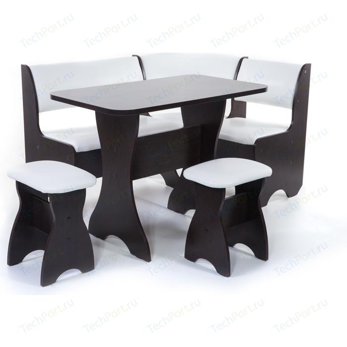 Кухонный уголок Бител Тюльпан - однотонный (венге, Борнео милк, венге) набор мебели для кухни бител тюльпан мини однотонный венге борнео крем венге