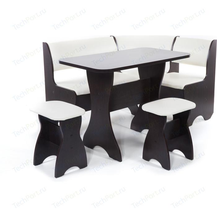 Кухонный уголок Бител Тюльпан - однотонный (венге, Борнео крем, венге) набор мебели для кухни бител тюльпан мини однотонный венге борнео крем венге