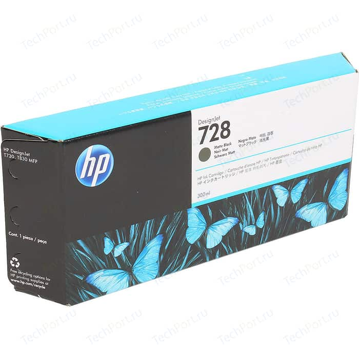 Картридж HP F9J68A №728 черный 300 мл.