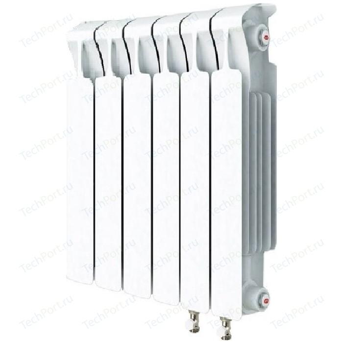 Радиатор отопления RIFAR MONOLIT VENTIL 500 6 секций биметаллический нижнее правое подключение (RM50006 НП50) радиатор отопления rifar monolit ventil 500 mvr 12 секций биметаллический нижнее правое подключение rm50012 нп50