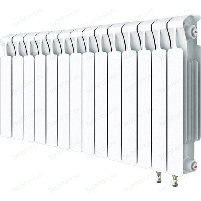Радиатор отопления RIFAR MONOLIT VENTIL 500 14 секций биметаллический нижнее правое подключение (RM50014 НП50) радиатор отопления rifar monolit ventil 500 6 секций биметаллический нижнее правое подключение rm50006 нп50