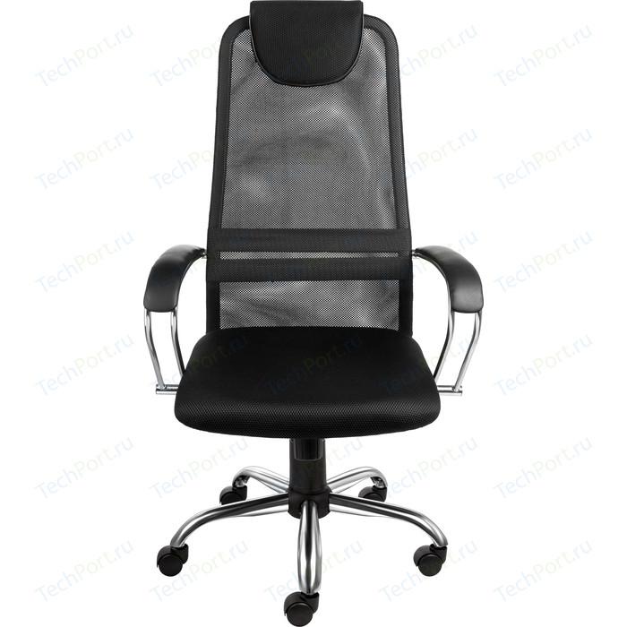 Кресло Алвест AV 142 CH (142 CH) МК кз/TW сетка/сетка односл 311/455/470 черн/черн/черная кресло алвест av 112 pl 727 mk ткань 418 черная кз 311 черный